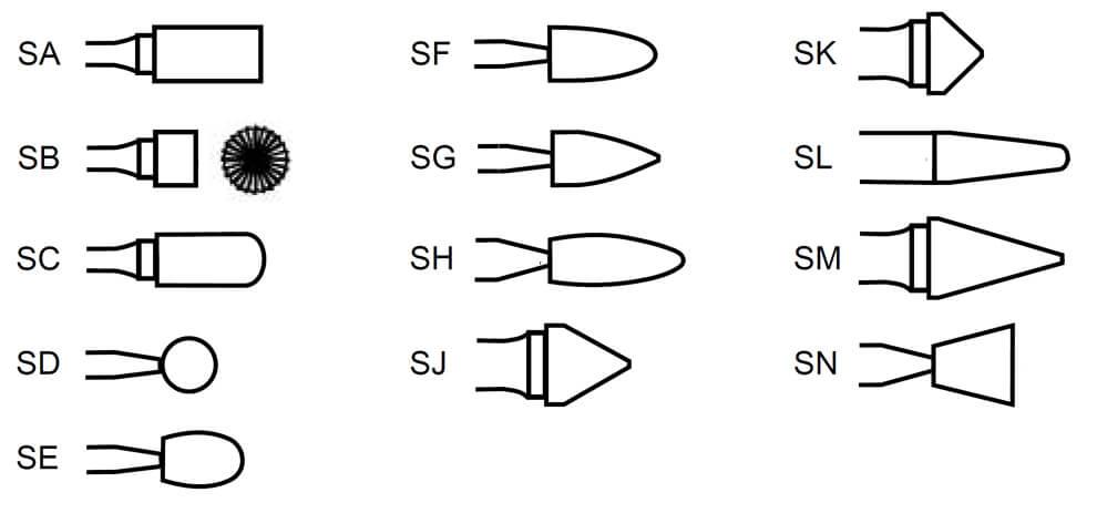 rotary burr shapes