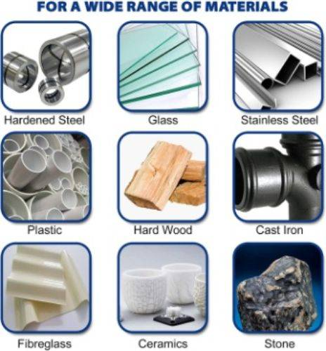 Flexibility of Materials worked by metal grinding drill bits