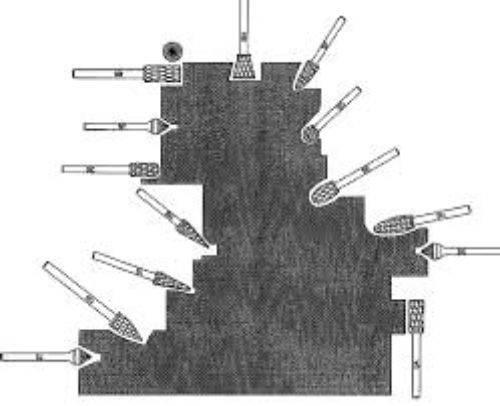 metal grinding drill bit Versatile Application