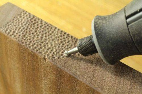 Adding Texture with Metal Grinding Drill Bit
